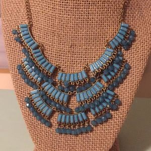 Turquoise color bead necklace
